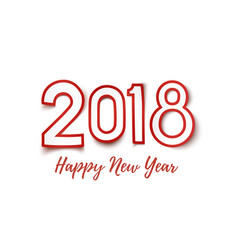 Happy new year 2018 template for greeting card vector