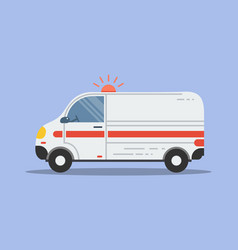 Isolated flat ambulance icon vector