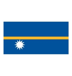 Nauru flag vector image