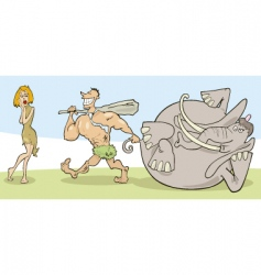 Prehistoric couple vector