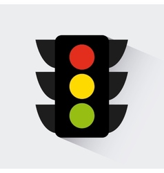 Traffic light design vector
