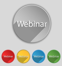 Webinar web camera sign icon online web-study vector