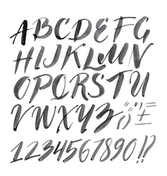 Alphabet brushpen 2 vector