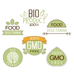 Gluten free natural product label vector