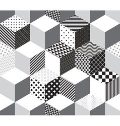 3d cubes pattern vector image