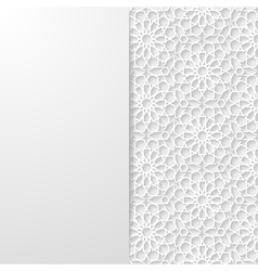 Abstract background with traditional ornament vector