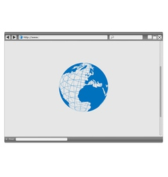 Internet web browser vector