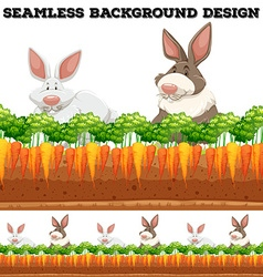 Rabbits and carrot farm vector