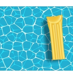 Yellow mattress in the swimming pool sunny day vector