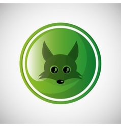 Animal design fox icon isolated vector