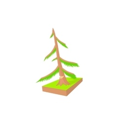 Pine to saw cut icon cartoon style vector
