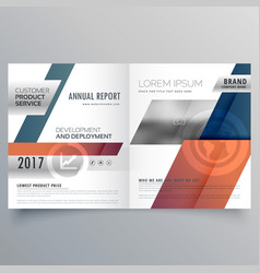 Abstract modern bifold brochure design for your vector