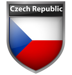 Badge design for flag of czech republic vector