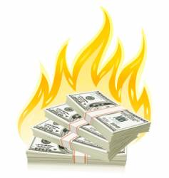 burning money vector image