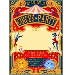Circus 01 invitation vintage 2d vector
