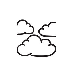 Clouds sketch icon vector