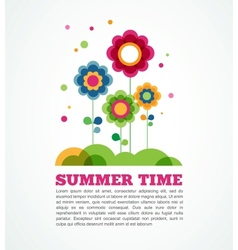 colorful flowers summer time vector image vector image