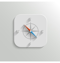 Compass icon - flat app button vector