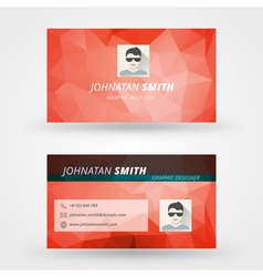 Creative business card design print templat vector image