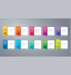 Folder infographics design with 10 options vector