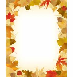 foliage frame vector image vector image