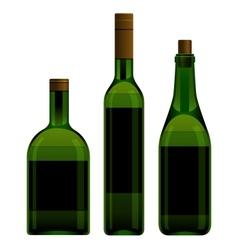 Green bottles different size vector image vector image