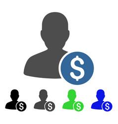Investor flat icon vector