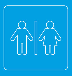 male and female toilet sign icon outline vector image