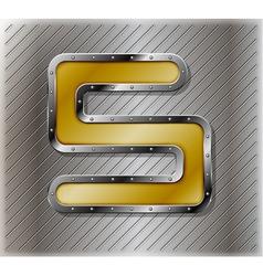 Metallic number five vector image vector image