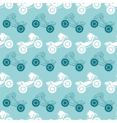 Motorcycles blue brown stripes seamless vector