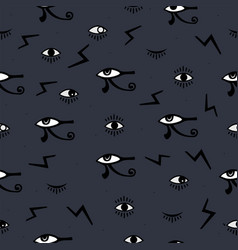 mysterious eye seamless pattern vector image