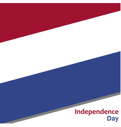 Netherlands independence day vector