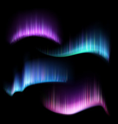 Northern aurora lights strips borealis set vector