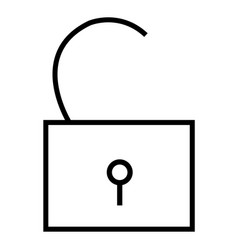 opened icon vector image