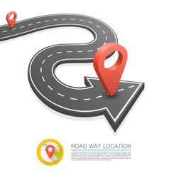 paved path on the road road arrow location vector image vector image