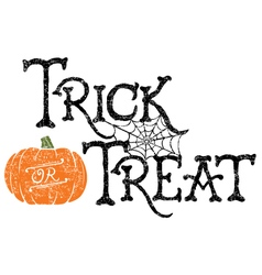 Pumpkin trick or treat vector
