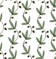 Seamless pattern olive vector