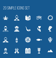 Set of 20 editable religion icons includes vector