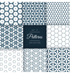Set of abstract geometric pattern design vector
