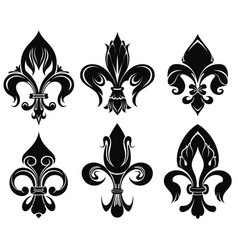 Set of royal lily vector