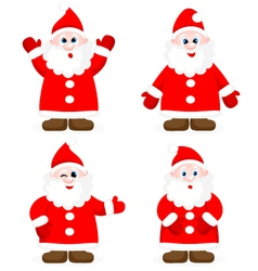 Set with happy santas vector