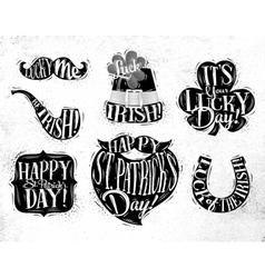 St Patrick symbols vector image vector image