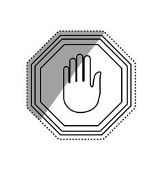 Stop sign hand vector