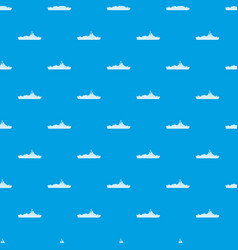 Warship pattern seamless blue vector