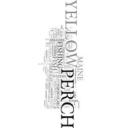 Yellow perch text word cloud concept vector