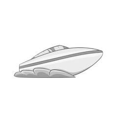Speed boat icon black monochrome style vector