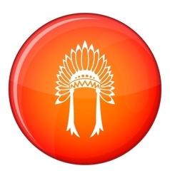 Indian headdress icon flat style vector