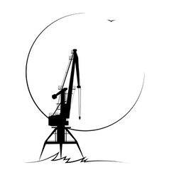 port crane vector image