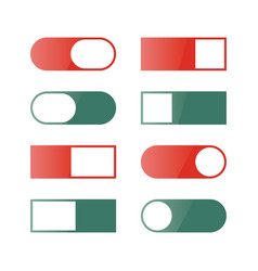 a set of buttons and switches vector image