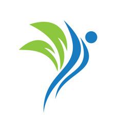 health and medical logo design vector image